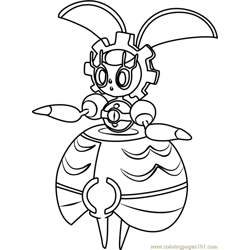 Magearna Pokemon Sun and Moon Free Coloring Page for Kids