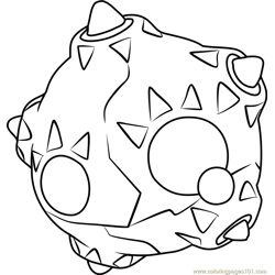 Minior Pokemon Sun and Moon Free Coloring Page for Kids