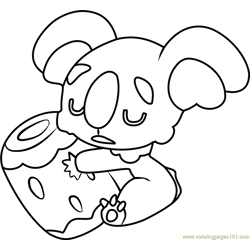 Nekkoara Pokemon Sun and Moon Free Coloring Page for Kids