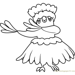 Oricorio - Pa'u Style Pokemon Sun and Moon Free Coloring Page for Kids