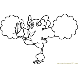 Oricorio - Pom-Pom Style Pokemon Sun and Moon Free Coloring Page for Kids