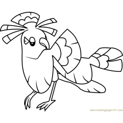 Oricorio - Sensu Style Pokemon Sun and Moon Free Coloring Page for Kids