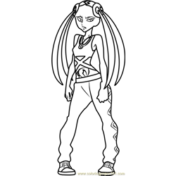 Plumeria Pokemon Sun and Moon Free Coloring Page for Kids