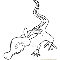 Salandit Pokemon Sun and Moon Free Coloring Page for Kids