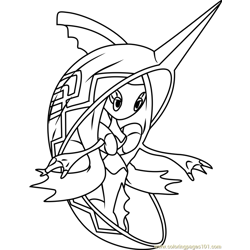 Tapu Fini Pokemon Sun and Moon Free Coloring Page for Kids