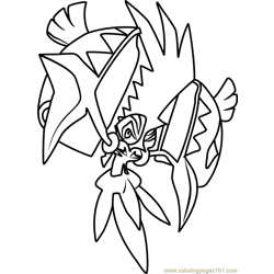 Tapu Koko Pokemon Sun and Moon Free Coloring Page for Kids
