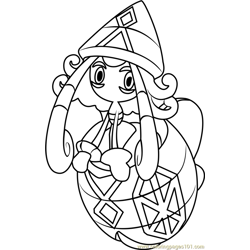 Tapu Lele Pokemon Sun and Moon Free Coloring Page for Kids