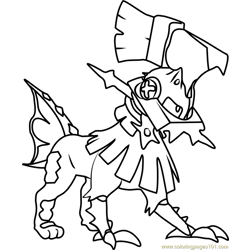 Type Null Pokemon Sun and Moon Free Coloring Page for Kids