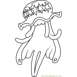UB-01 Pokemon Sun and Moon Free Coloring Page for Kids