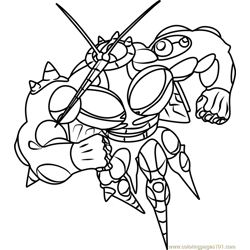 UB-02 Absorption Pokemon Sun and Moon Free Coloring Page for Kids