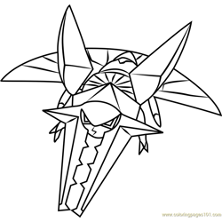 Vikavolt Pokemon Sun and Moon Free Coloring Page for Kids