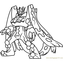Zygarde Complete Forme Pokemon Sun and Moon Free Coloring Page for Kids