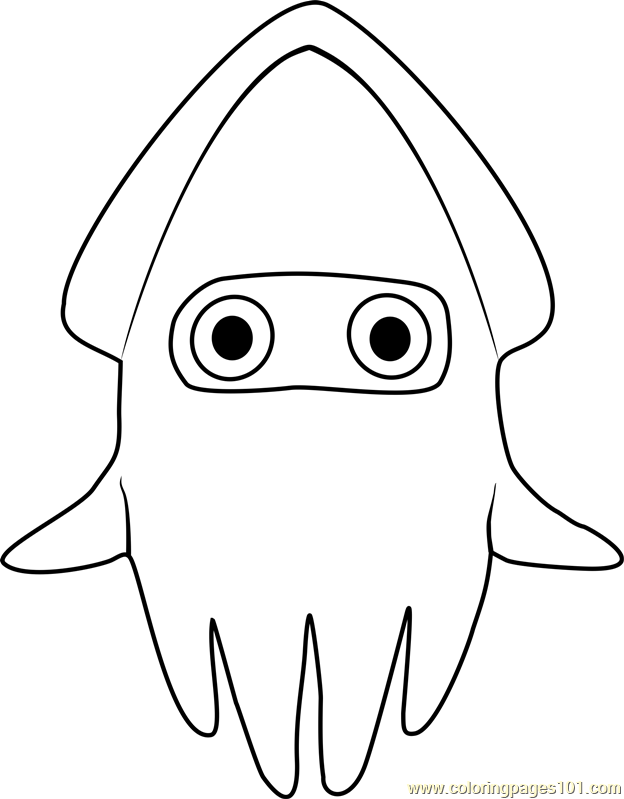 Blooper Coloring Page Free Super Mario Coloring Pages