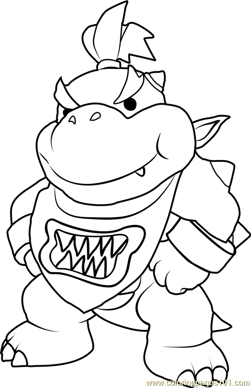 bowser and bowser jr coloring pages | Bowser Jr Coloring Page - Free Super Mario Coloring Pages ...