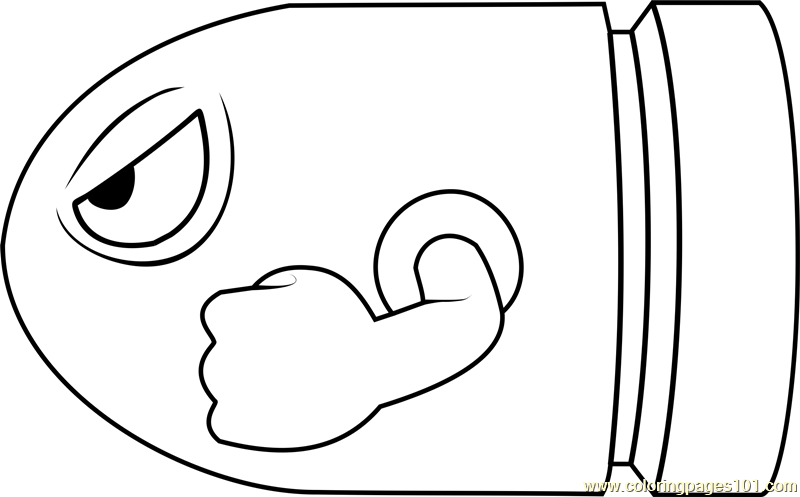 - Bullet Bill Coloring Page - Free Super Mario Coloring Pages :  ColoringPages101.com