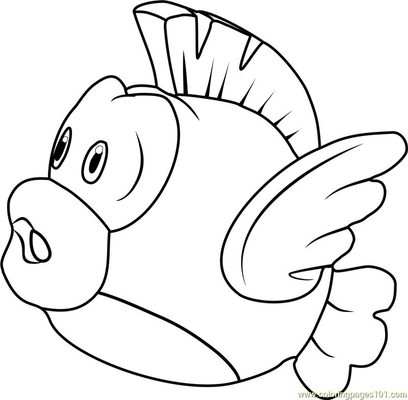 - Cheep-Cheep Coloring Page - Free Super Mario Coloring Pages :  ColoringPages101.com