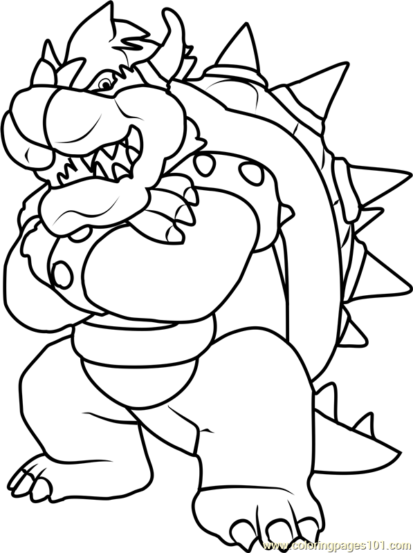 King Koopa Coloring Page Free Super Mario Coloring Pages