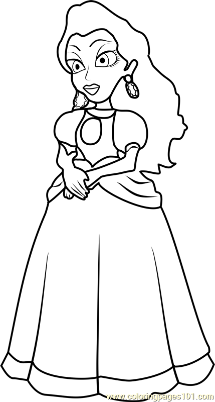 Pauline Coloring Page Free Super