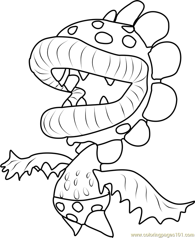 Petey Piranha Coloring Page Free
