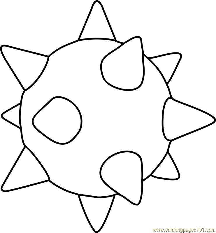 mario easter eggs coloring pages   Spiny Egg Coloring Page - Free Super Mario Coloring Pages ...