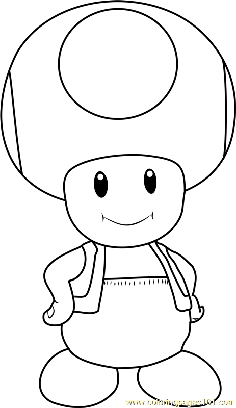 Toad Coloring Page Free Super Mario Coloring Pages Toad Mario Coloring Pages