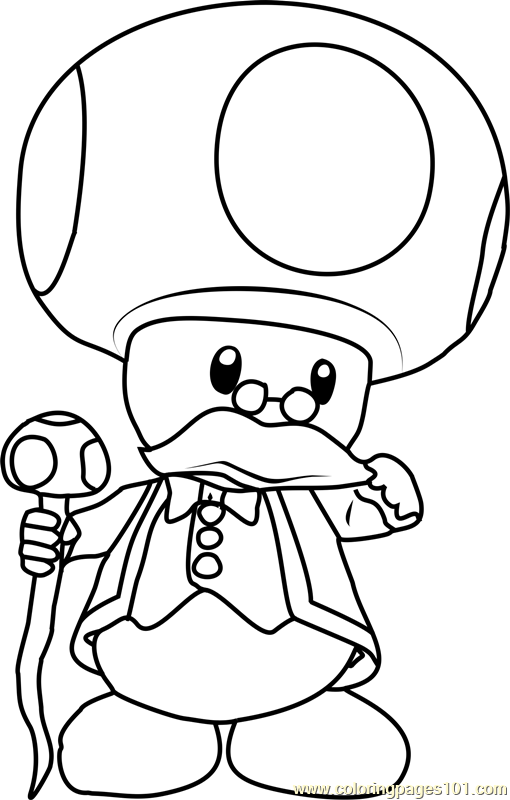 Toadsworth Coloring Page Free