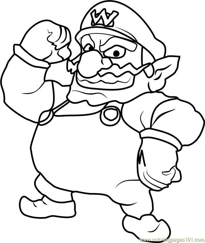 wario coloring pages - photo#6