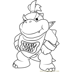 Bowser Jr Free Coloring Page for Kids