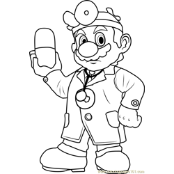 Lemmy Koopa Coloring Page Free Super Mario Coloring