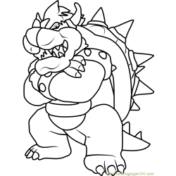 King Koopa Free Coloring Page for Kids