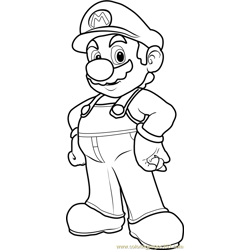 Mario Free Coloring Page for Kids