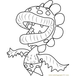 Petey Piranha Free Coloring Page for Kids