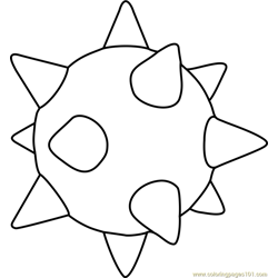 Spiny Egg Free Coloring Page for Kids