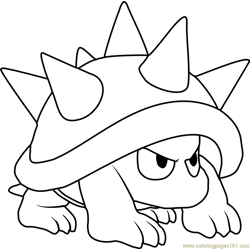 Spiny Free Coloring Page for Kids