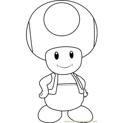Toad Free Coloring Page for Kids