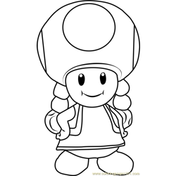 Toadette Free Coloring Page for Kids