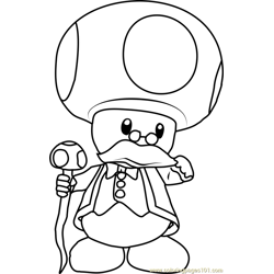 Toadsworth Free Coloring Page for Kids