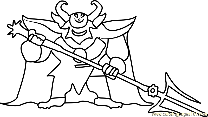 Asgore dreemurr undertale coloring page free undertale for Undertale coloring pages
