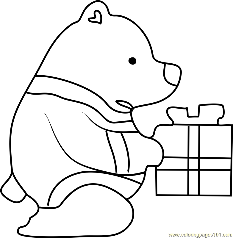Blue Bear Undertale Coloring Page