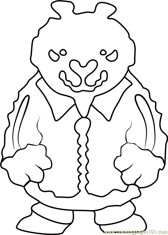 Brown Bear Undertale Coloring Page