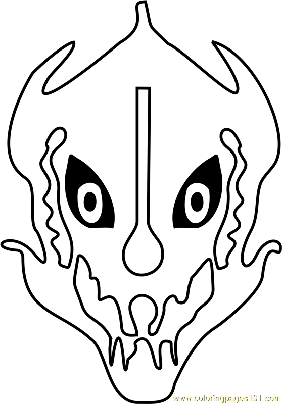 Gaster Blaster Undertale Coloring Page Free Undertale