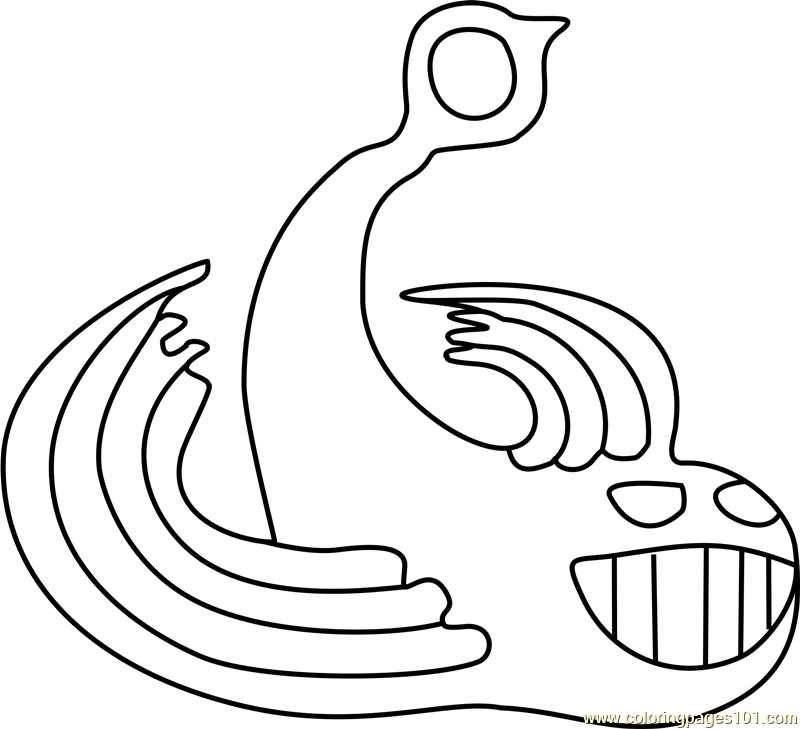 Glyde Undertale Coloring Page