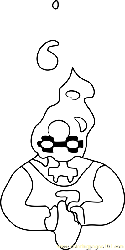 grillby undertale coloring page