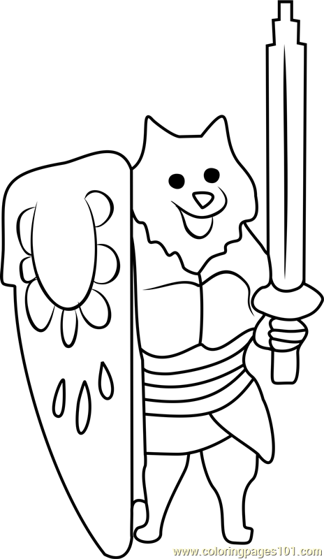 lesser dog undertale coloring page