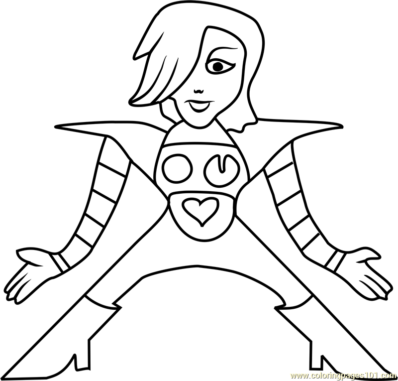 mettaton ex undertale coloring page