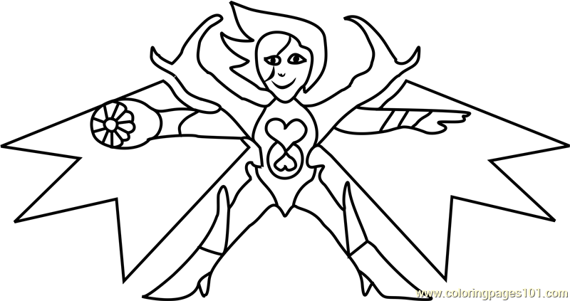 mettaton neo undertale coloring page