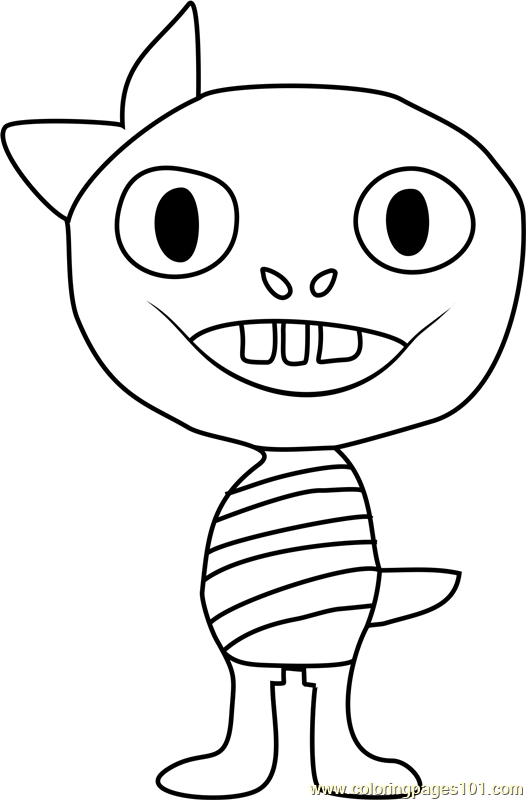 monster kid undertale coloring page
