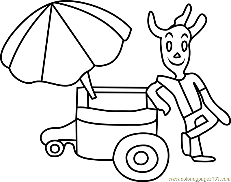 Nice Cream Guy Undertale Coloring Page Free Undertale