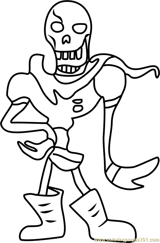 papyrus undertale coloring page