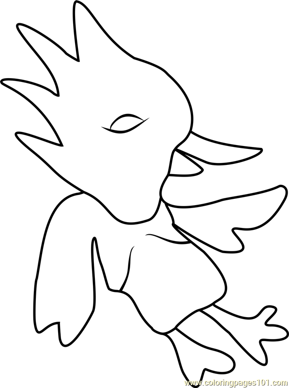 Red Bird Undertale Coloring Page